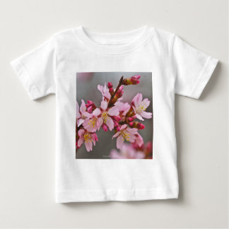 Pink Against A Gray Sky Japanese Cherry Blossoms Baby T-Shirt