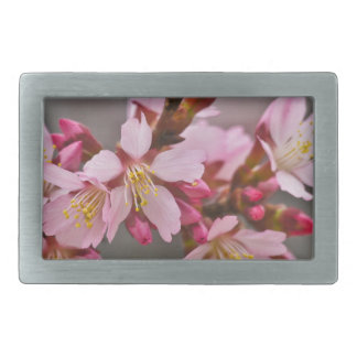 Pink Against A Gray Sky Japanese Cherry Blossoms Belt Buckle