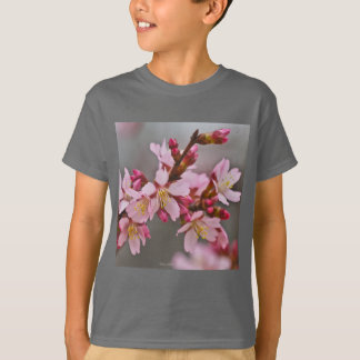Pink Against A Gray Sky Japanese Cherry Blossoms T-Shirt