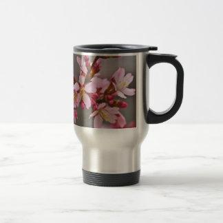 Pink Against A Gray Sky Japanese Cherry Blossoms Travel Mug