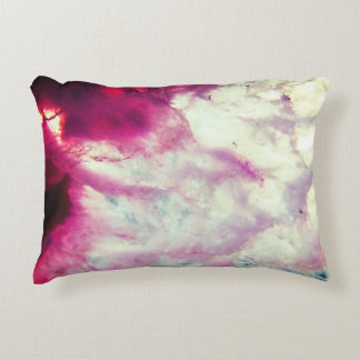 Pink Agate Crystal Accent Pillow