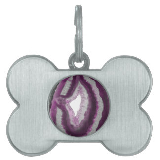 Pink Agate Pet ID Tags
