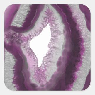 Pink Agate Square Sticker