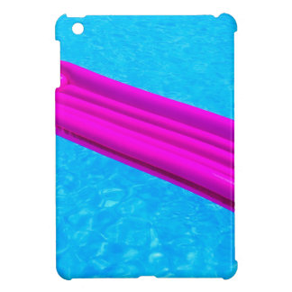 Pink air mattress on water of swimming pool iPad mini cover