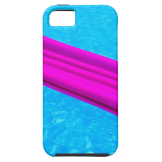 Pink air mattress on water of swimming pool iPhone 5 cases