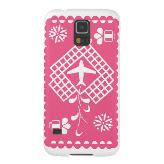Pink airplane traveling festival phone case