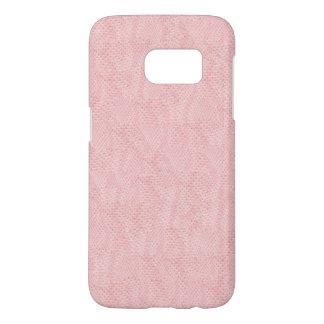 Pink Albino Snake Skin Pattern Samsung Galaxy S7 Case