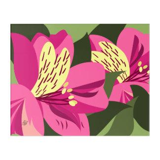 Pink Alstroemeria Modern Art