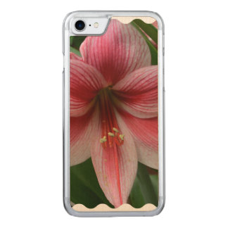 Pink Amaryllis Carved iPhone 7 Case