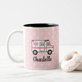 Pink Ambulance Mug EMT Mug Gift for Her