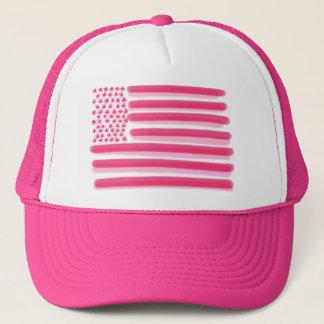 Pink American flag stars stripes ladies hat