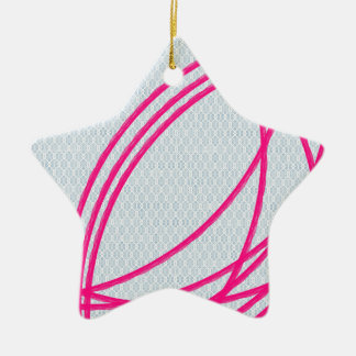 pink an grey abstract art ornament