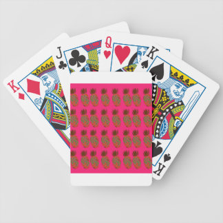 Pink ananas cute bicycle playing cards