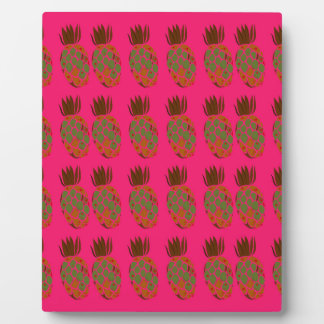 Pink ananas cute plaque