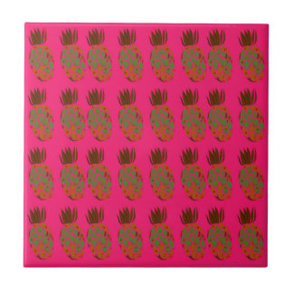 Pink ananas cute tile