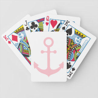Pink Anchor Bicycle Playing Cards