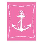 Pink Anchor Postcard
