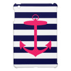 Pink Anchor Silhouette iPad Mini Case