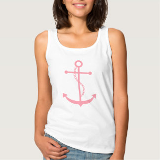 Pink Anchor Tank Top