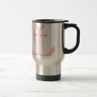 Pink Anchor Travel Mug