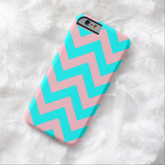 Pink and Aqua Chevron iPhone 6 Case