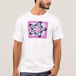 Pink and Aqua Fractal Girl's T-shirt