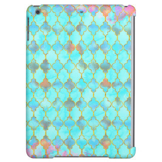 Pink and Aqua Maroccan pattern iPad Air Covers