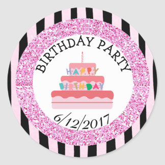 Pink and B|lack BIRTHDAY PARTY  Sticker