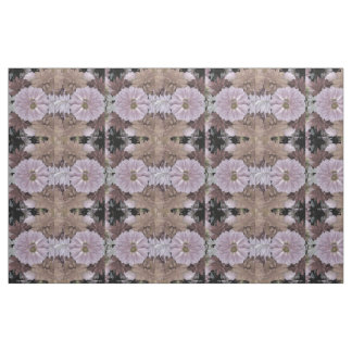 Pink and Beige Abstract Dahlia Flower Fabric