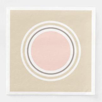 Pink and Beige Paper Napkins