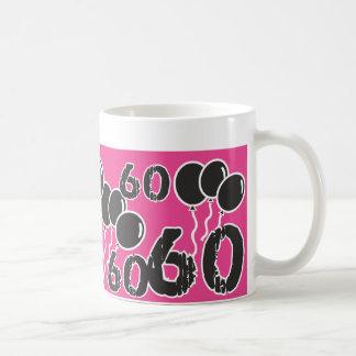 PINK and BLACK 60th Birthday - 60 yrs old Bday Coffee Mug