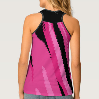 Pink and Black Arrow Tank Top