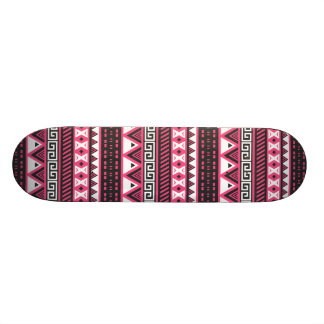 Pink and Black Aztec Tribal Pattern Design Skateboard