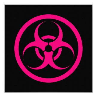 Pink and Black Bio Hazard Circle Invite