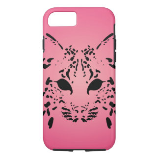 Pink and Black Bobcat iPhone 8/7 Case