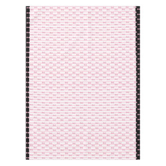 Pink and Black  Bows Cloth Tablecloth