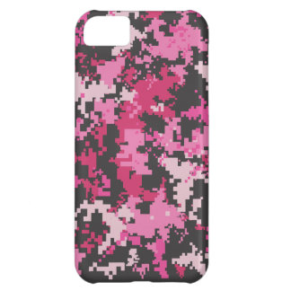 Pink and Black Camo iPhone Case