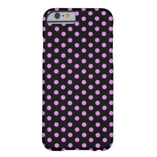 Pink and Black Color Polka Dots Barely There iPhone 6 Case