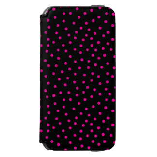 Pink And Black Confetti Dots Pattern Incipio Watson™ iPhone 6 Wallet Case