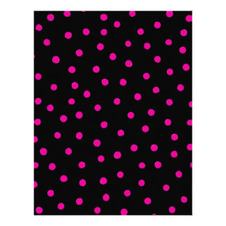 Pink And Black Confetti Dots Pattern Letterhead