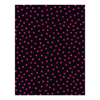 Pink And Black Confetti Dots Pattern Letterhead Template
