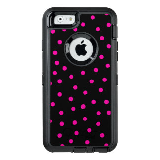 Pink And Black Confetti Dots Pattern OtterBox iPhone 6/6s Case