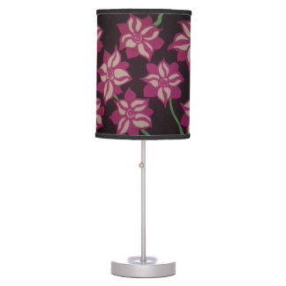Pink and Black Dahlia Lamp