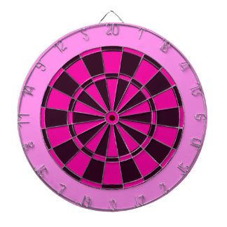 Pink and Black Dartboard