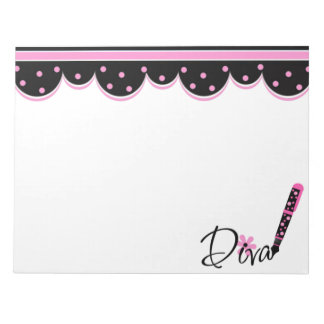 Pink and Black Diva Notepad