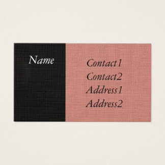 Pink and Black Fabric Business Card