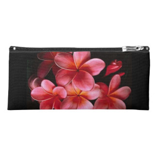 Pink and Black Flower Pencil Case
