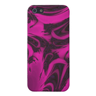 Pink and black fractal case for iPhone 5/5S