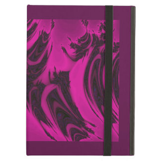 Pink and black fractal iPad air cover