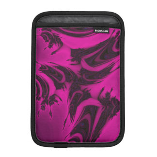 Pink and black fractal iPad mini sleeve